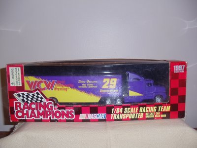 Copyright2004 Scale Auto Racing on Nascar Wcw 1 64 Scale Racing Team Transporter   Collectibles For Sale
